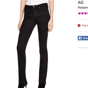 Black AG Harper Essential straight jeans size 27R